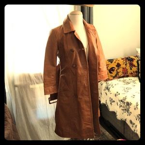 Vintage inspired Arden B leather trench coat.